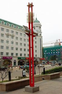 红色金属灯柱意向 JPG