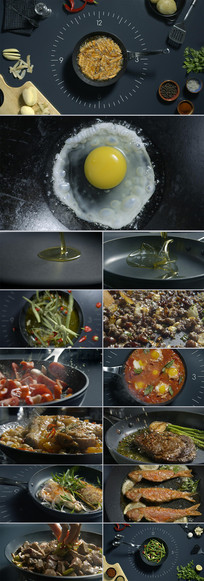 美食料理烹饪厨房餐饮实拍视频