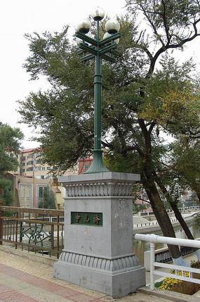 欧式古典灯柱意向