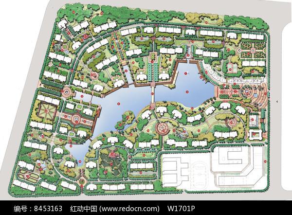 别墅区景观规划设计图片
