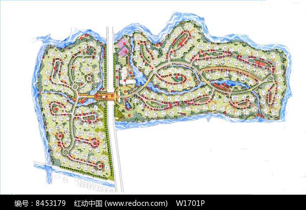 别墅区景观设计平面图图片