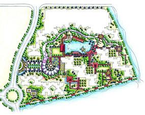 别墅区景观设计总平面
