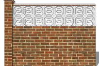 复古风格雕花围墙 skp