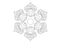 富贵吉祥传统图案环形雕刻纹样