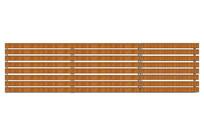 横条木质栏杆