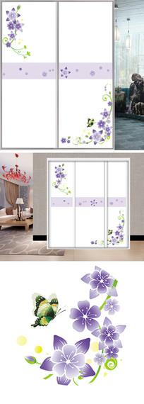 花边花朵条纹衣柜移门图片背景