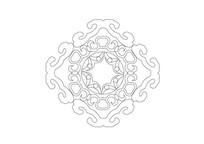 环形如意图案组合雕刻纹样