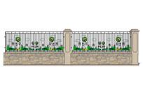 教学区围墙模型