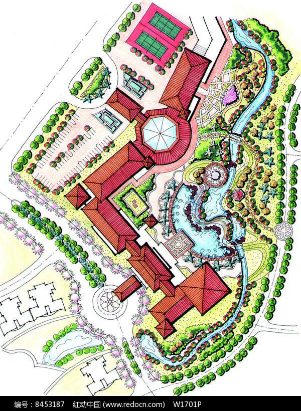 酒店环境设计平面图JPG素材下载 编号8453187 红动网