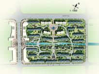 居住区景观设计彩平psd素材