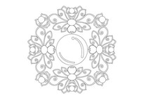 莲花宝珠雕刻纹样