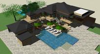美式风格别墅及庭院