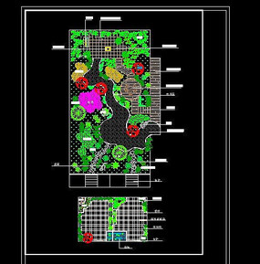 某小區屋頂花園平面圖 CAD