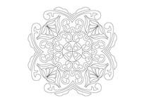 如意样式贝壳元素组合雕刻纹样