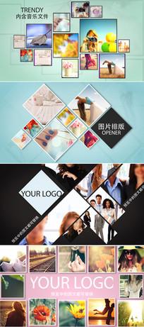 时尚摄影照片排列相册模板
