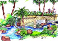 水池景观效果图