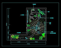 屋顶花园景观规划图 CAD