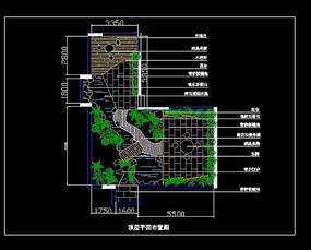 屋顶花园平面布置图 (1)