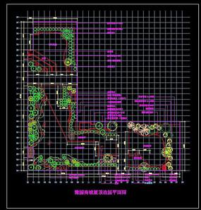 豫园商城凝晖阁屋顶花园平面图