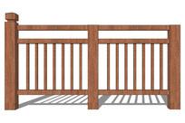 整体木质栏杆