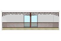 中式古典栏杆模型