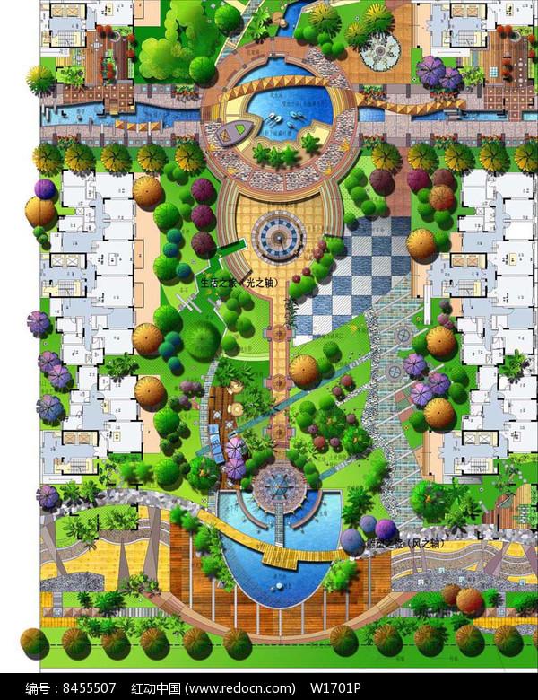 住宅区景观规划设计方案彩平图片