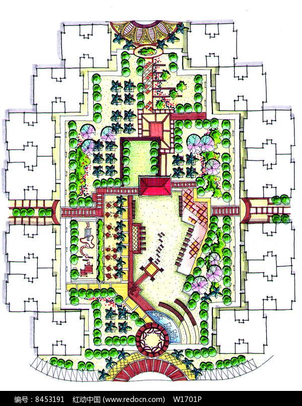住宅区景观设计平面图图片