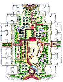住宅区景观设计平面图