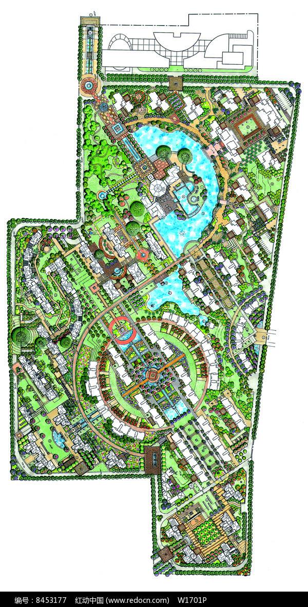 住宅区景观设计手绘平面图片