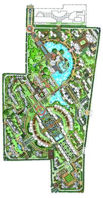 住宅区景观设计手绘平面