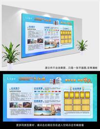 大气蓝色公司文化墙设计