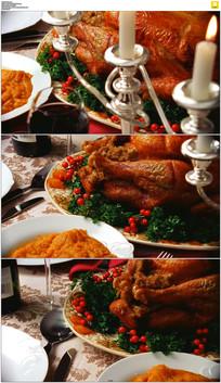 感恩节晚餐实拍视频素材