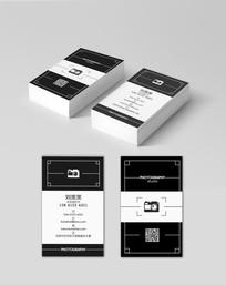 黑白照相馆名片