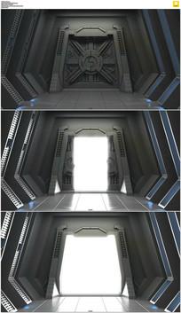 机械隧道开门动态视频素材 mov