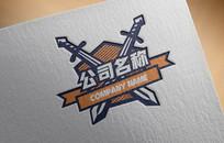卡通盾牌玩具logo