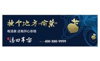 蓝金色汤泉房地产户外广告