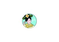 满族女子人物形象logo