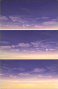 美丽晚霞傍晚仰望天空霞光视频