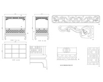 清代榉木四柱架子床CAD图纸