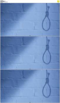 上吊绳子的影子实拍视频素材 mov