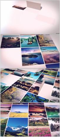 图片拼贴组合照片墙展示动画