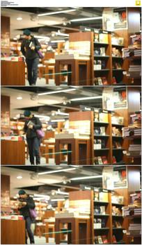 图书馆借书阅读实拍视频素材