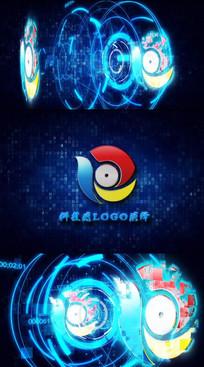 未来科技感logo文字片头视频