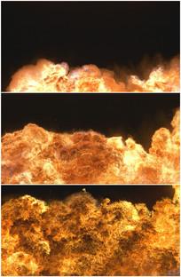 油库爆炸起火震撼燃烧火焰视频