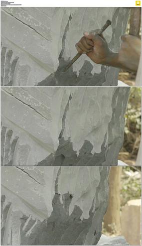 凿石头实拍视频素材