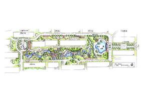 住宅区绿地设计彩平