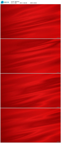 红色绸布飘动视频素材