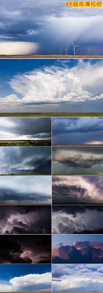 延时摄影云层闪电龙卷风视频