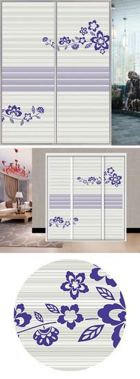 UV打印花朵衣柜移门图片背景 JPG