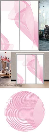 粉色线条衣柜移门图片背景
